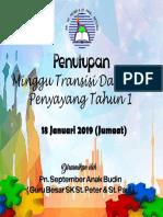 Penutupan Minggu Transisi 2019