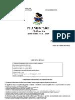 Planificare clasa a V-a