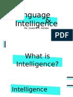 Languange and Intelligence