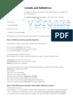 Gerund vs Infinitive | Verb