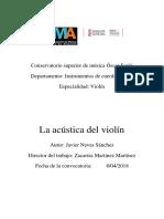 La Acústica Del Violín Javier Navas Sánchez