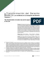 La Transformación Del Derecho Moderno - Luis Durán Rojo
