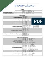Cálculo II - Formulario