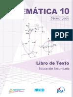 Matemática 10º Grado LTES-NICA- Mined, Unan-Managua, Unan-León - Jica 1ra. Ed. 2019