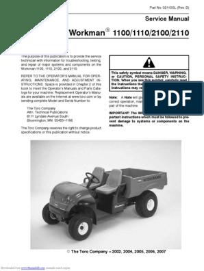 Kohler Engine Wiring Harness Diagram Workman 1100 | Wiring Diagram