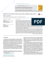 Optimal Use of Energy Storage Systems With Renewable Energy Sources 1