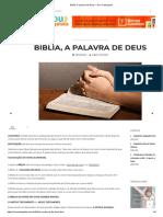 Bíblia, A Palavra de Deus – Sou Catequista