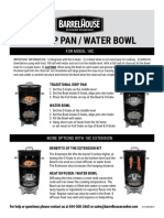 Drip Water Pan Bowl Instructions