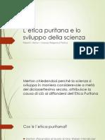 L'Etica Puritana e Lo Sviluppo Della Scienza