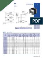Datasheet Motor 17pm-k049u-Nmb
