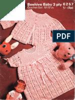 CROCHET - Patons Beehive 6257 - Dress and Coat