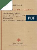 Enrique de Villena, Traducción y glosas de la «Eneida», Libros IV-XII