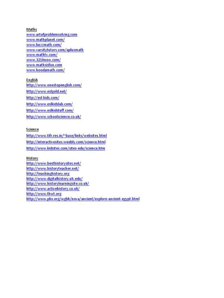 School Websites docx