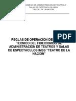 Reglas de Operacion Fidteatro
