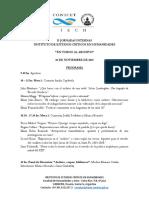 Programa II Jornadas Internas IECH 2018