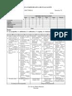 Rúbrica Participativa de Evaluación