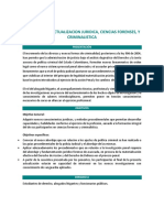 Seminario de actualización jurídica ciencias forenses y criminalística.