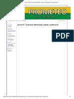 Lección 07. Ecuaciones Diferenciales Lineales y de Bernoulli - Poliecuaciones2