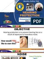4. Hearing Protection Safety Talk