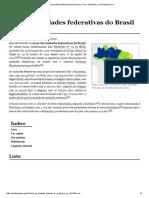 Lista de Unidades Federativas Do Brasil Por Área.