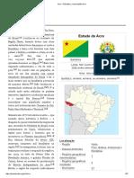 Estado do Acre (unidade federativa do Brasil) - Breve história.