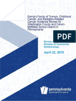 PA Department of Health Ewing's Sarcoma Study Report