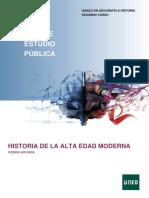 Historia de La Alta Edad Moderna