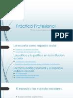 Práctica Profesional Escuela Reescribirla