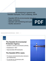 Environmental Monitoring in general with Swedish examples
