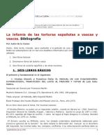 La infamia de las torturas españolas a vascas y vascos. Bibliografía