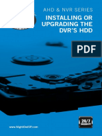 Night Owl DVR - Installing or Upgrading the HDD