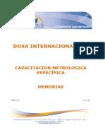 Capacitacion Metrologica Especifica 10 Horas 2011 Memorias