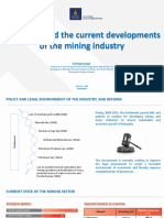 The Policy and the Current Developments of the Mining Industry - Mongolia