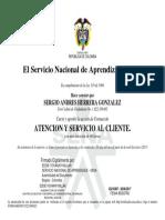 SENA - Certificado