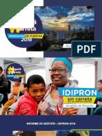 Informe de Gestión Vigencia 2018 IDIPRON
