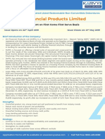 JM Financial Products Limited NCD Product Note Apr19