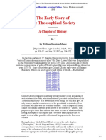 Early Story of the Theosophical Society