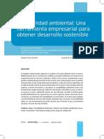 Artículo Contabilidad Ambiental Como Herramienta
