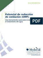 Usos del potencial de oxido reduccion