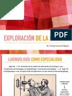 Exploración de la Laringe