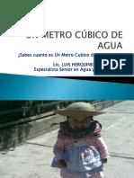 Un Metro Cúbico de Agua