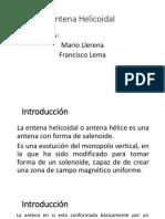 Llerena Lema Antena Helicoidal (Ancha)