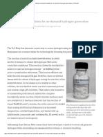 Metal Borohydride Tablets for on-Demand Hydrogen Generation _ TechLink