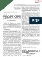 Directiva Administrativa y Sanitaria