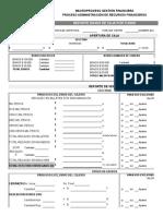 FI-P13-F07 Formato Reporte Diario de Caja Por Turno - Tienda Javeriana