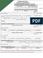 Planilla de Inscripción 2018-2019