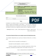 Ficha de Avaliação Sumativa