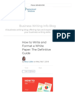 How to Write and Format a White Paper_ the Definitive Guide
