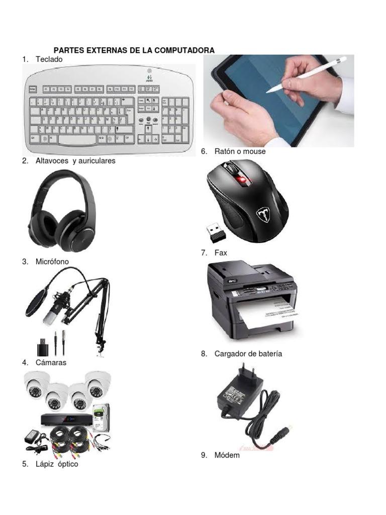 Partes Externas De La Computadora: 1. Teclado | Disco flexible | Seguro  digital