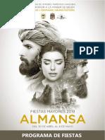 Programa Fiestas Mayores Almansa 2019